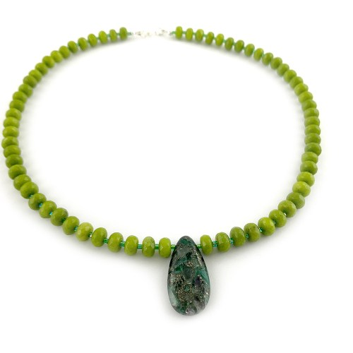 Peridot and agate necklace online uk