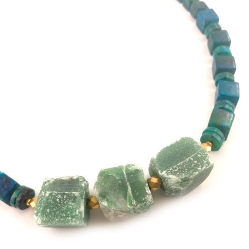 chrysicolla necklace