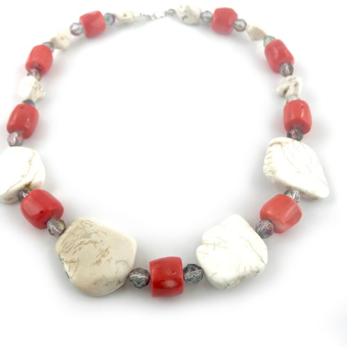 Red coral necklace online uk