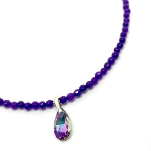 Amtheyst & Swarovski necklace