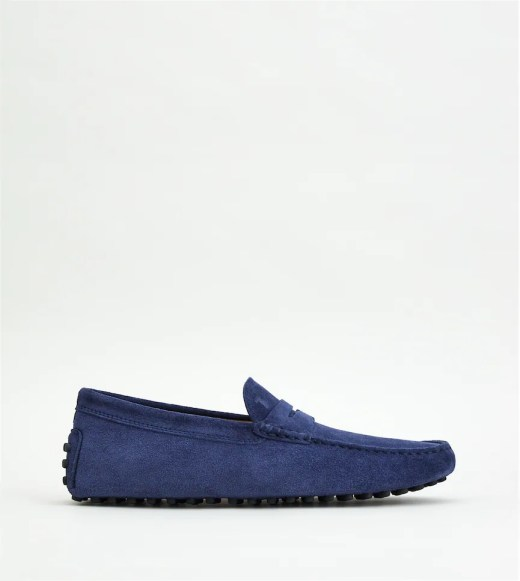 Blue TOD'S shoes in suede