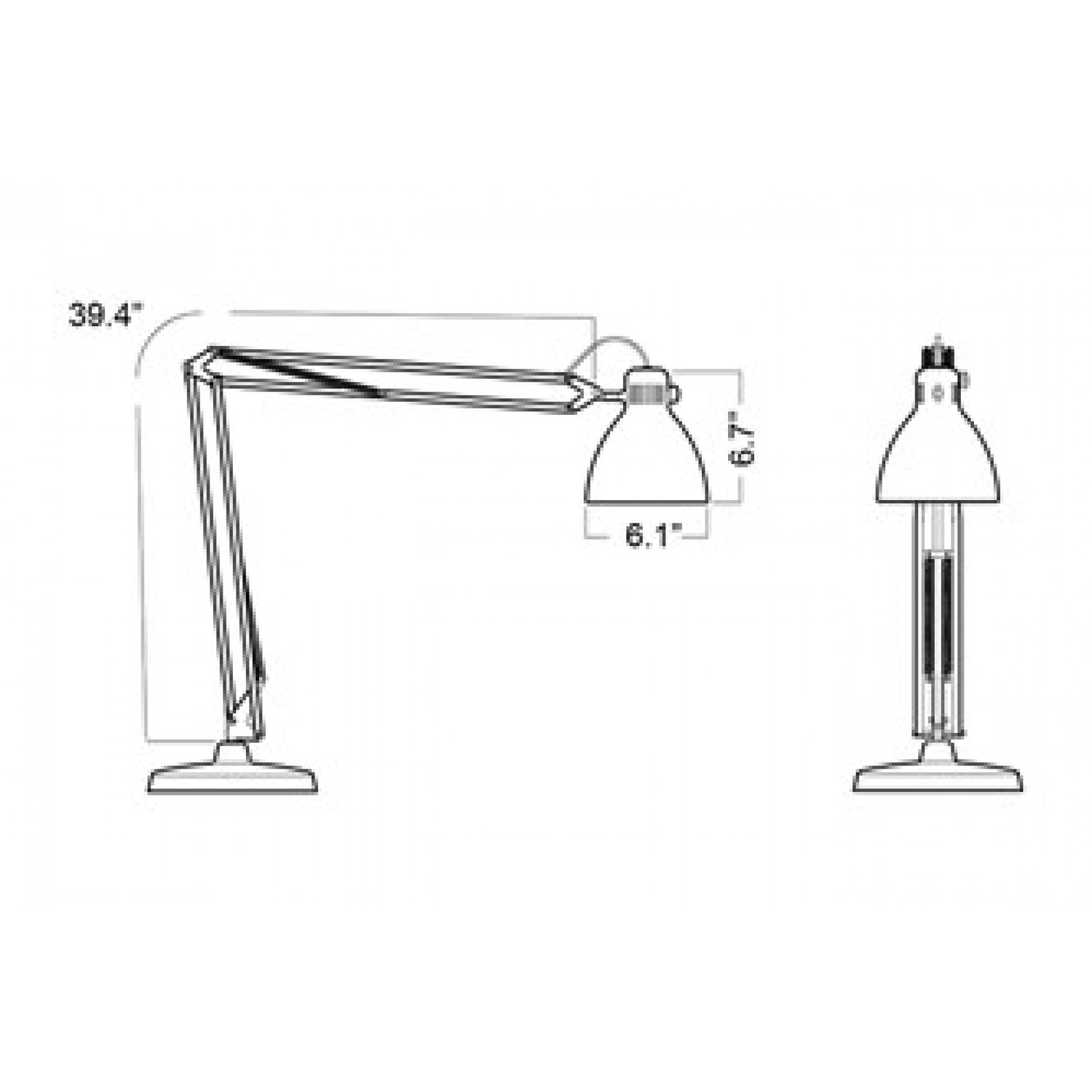 Luxo L 1 Task Light With Edge Clamp White Luxo Lighting