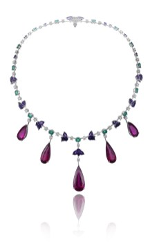 817993-1001 Rubellite Necklace Red Carpet Collection petit