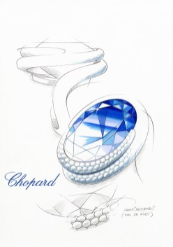 820572-1001 Tanzanit Ring Red Carpet Collection sketch