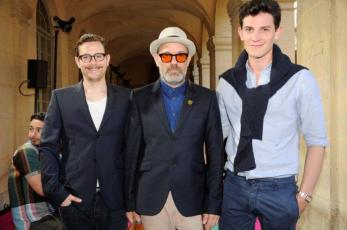photographer Thomas Dozol, REM's Michael Stipe and Acne Paper editor Duncan Campbell