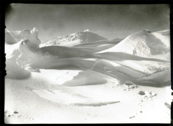 S82 Mount Erebus, from the sea ice, Cape Evans, Oct 1911 © Richard Kossow, courtesy of ATLAS Gallery