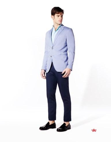 CELIO CLUB_NCUTICKET: veste satin de coton 109,90¤ NCUNICO: chemise coton 39,99¤ NCOPINS: pantalon poly-viscose 55,99¤ NCIPENNY: mocassin cuir 89.99¤