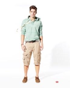 NEWELL: sweater coton 39,99¤ NOETNIK: bermuda coton organique 49,99¤ NYINDIEN: bateau suède 59.99¤