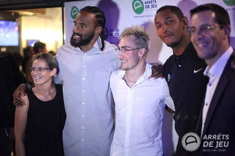 Stéphanie Lerouzic, Ronny Turiaf, Adrien Mattenet, Boris Diaw, Nicolas Raimbault