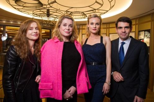 Isabelle Huppert, Catherine Deneuve, Diane Kruger and Jerome Lambert Jaeger-LeCoultre Place Vendome Boutique