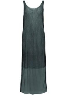 beaded net & mesh dress