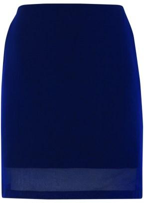 blue mesh hem skirt