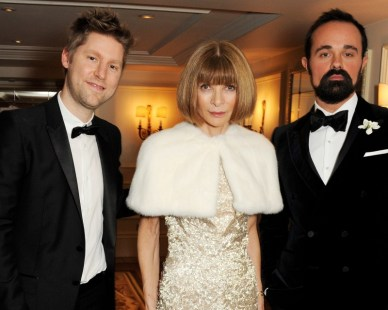 christopher bailey, anna wintour and evgeny lebedev at the 58th london evening standard theatre awards in association with burberry
