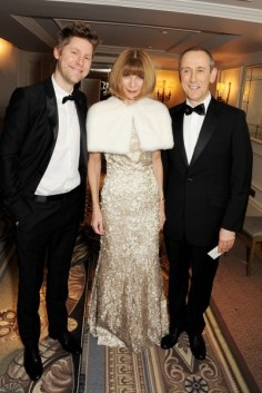 christopher bailey, anna wintour and nicholas hytner at the 58th london evening standard theatre awards in association with burberry