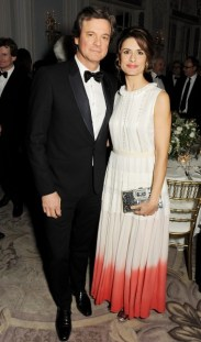 colin firth and livia firth at the 58th london evening standard theatre awards in association with burberry