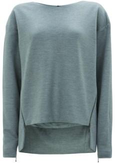 grey zip trim sweat
