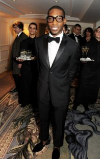 tinie tempah wearing burberry at the 58th london evening standard theatre awards in association with burberry-1