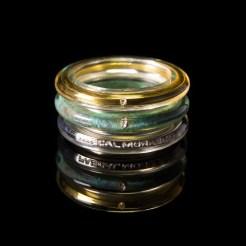 PASCAL MORABITO triad anneaux de Saturne argent bronze vermeil 2