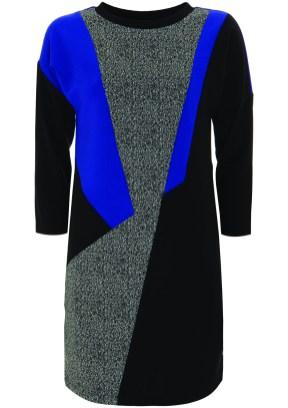 blue panel dress