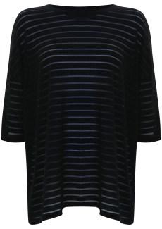 mesh stripe drape top