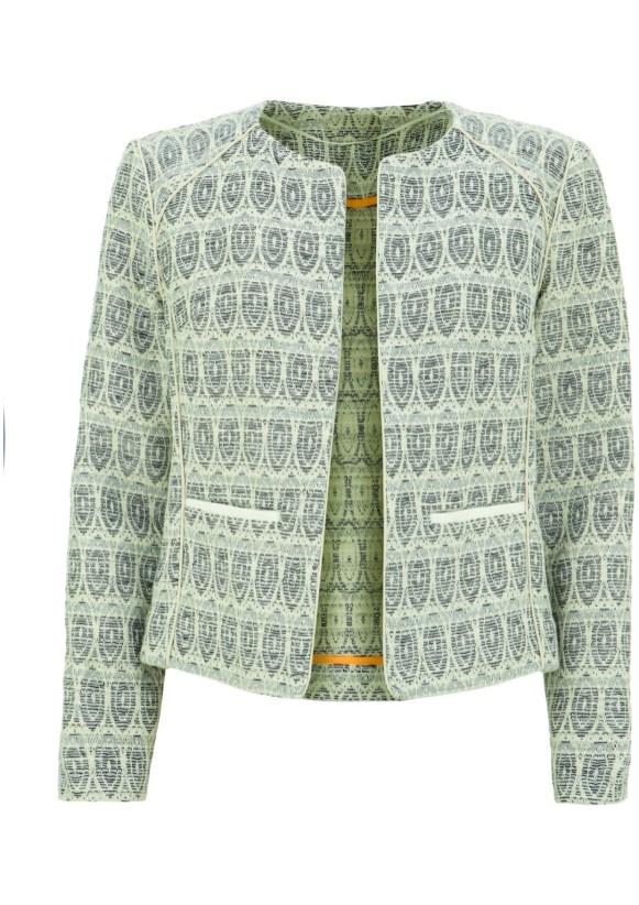 silver patern jacket