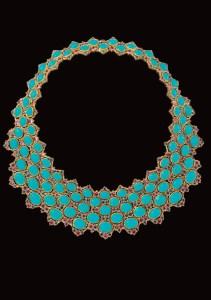 138 saphirs bleu ciel facettés ronds cté 14,38. 88 turquoises cts 209,45. 114 saphirs roses facettés ronds cté 20,25.