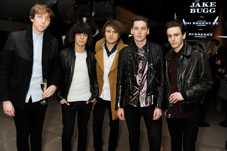 Burberry Acoustic Presents Jake Bugg Live At 121 Regent Street on January 31, 2013 in London, England. Pic Shows: James Craig; Jack Sails; Mark Haytom; George Craig; Daniel Parkin of One Night Only Pic Credit: Dave Benett