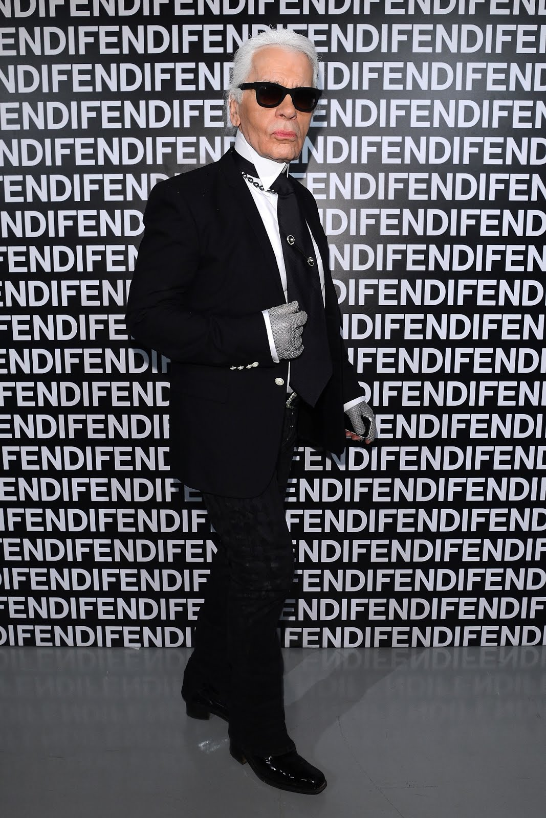 Karl Lagerfeld @ FENDI FW 13-14 Fashion Show.