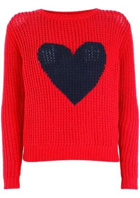 red heart wool jumper