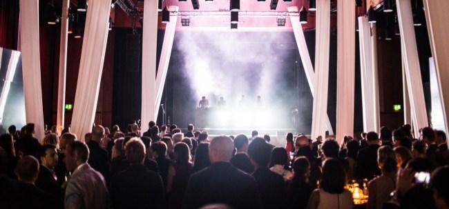 Concert privé du groupe de DJs français C2C lors de la soirée d'ouverture d'Art Basel