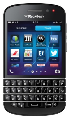 BlackBerry Q10_Front-Balance Travail