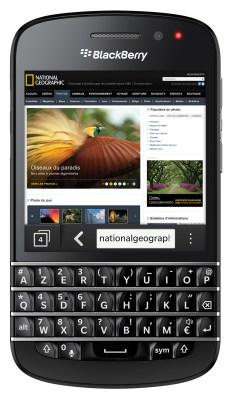 BlackBerry Q10_Front-Navigateur