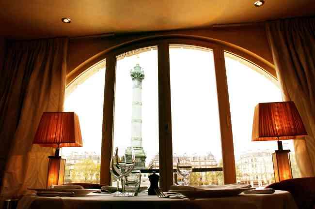 La vue sur la colonne de la Bastille