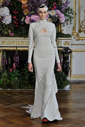 Model walking at Alexis Mabille collection Haute Couturefall winter 1314