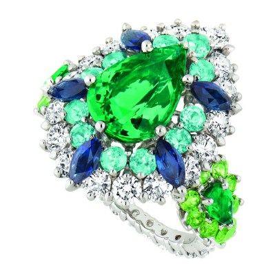 Bague Cher Dior Exquise Emeraude 3-quarts