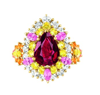 Bague Cher Dior Exquise Rubis Face