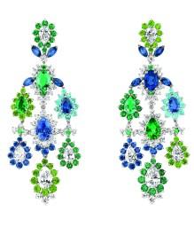 Boucles d'oreilles Cher Dior Exquise Emeraude Face