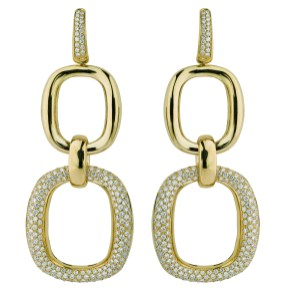 Damiani Masterpiece - D.LACE earrings in yellow gold with diamonds 20056683