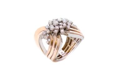 Damiani - Sophia Loren - Pink gold ring with diamonds_2 90504091