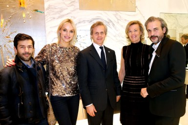 Guerlain Store & Restaurant Opening On Champs Elysees