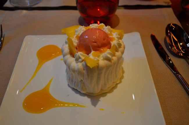 Le dessert à la meringue