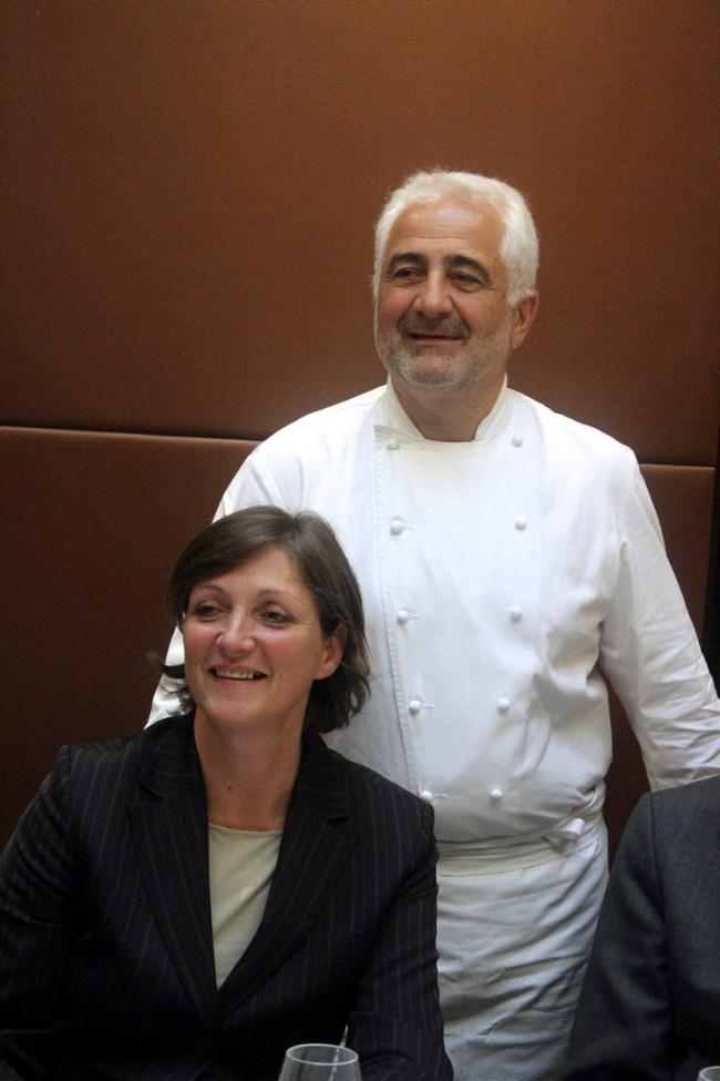 Anne-Marie Chabbert avec Guy Savoy