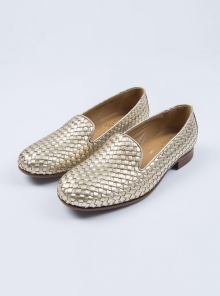 slippers-tresse-or