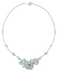Collier Rose Dior Bagatelle Grand modèle - Diamants
