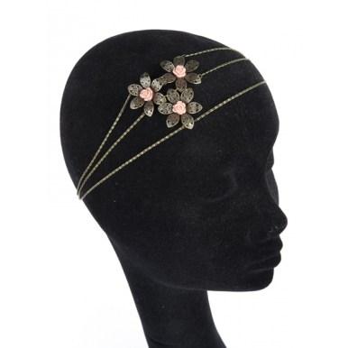 "Headband ""Bouquet"" rose - Cup"