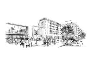 Vue 3D du futur hôtel de Cannes