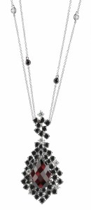 Damiani - ANIMA with garnet and black and white diamonds 20058516 (Copier)