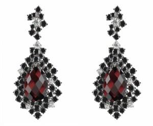 Damiani - ANIMA with garnet and black and white diamonds 20058518 (Copier)