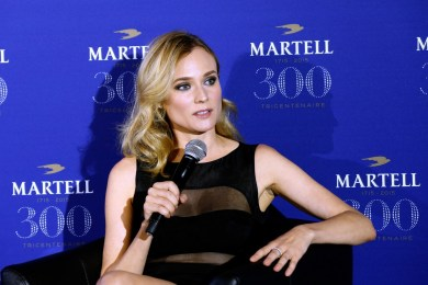 VERSAILLES, FRANCE - MAY 20: Diane Kruger is pictured during a press conference at the Palace of Versailles, ahead of Martell Cognac's 300th anniversary celebrations. On May 20, 2015 in Versailles, France (Photo by Bertrand Rindoff Petroff/Getty Images for Martell Cognac) *** Local Caption *** Diane Kruger