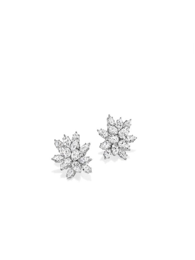 Incredible Diamond Cluster Earrings